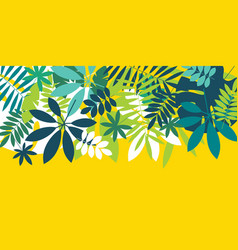 Green simple tropical leaves design element vector