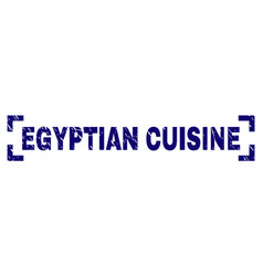 Grunge textured egyptian cuisine stamp seal vector