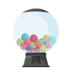 Gums crystal ball dispenser vector