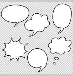 Hand drawn set speech bubbles doodle vector