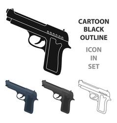 Handgun icon in cartoon style isolated on white vector