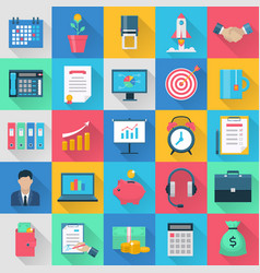 Icons set for internet marketing vector
