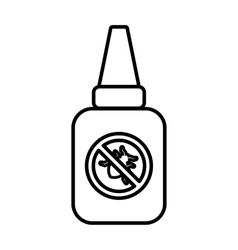 Insect spray icon outline style vector