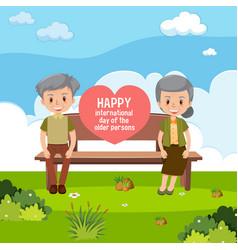 International day older persons banner vector