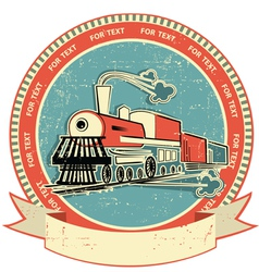 Locomotive label vintage vector
