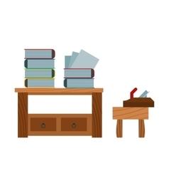 Lumberjack cartoon tools icons vector image