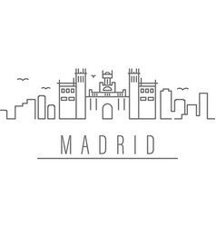 Madrid city outline icon elements cities and vector