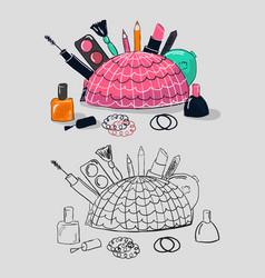 makeup tools vector image