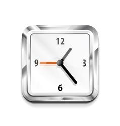 Metal square clock icon vector image