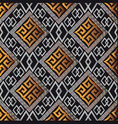 modern geometric seamless pattern black vector image