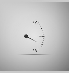Motor gas gauge icon isolated on grey background vector