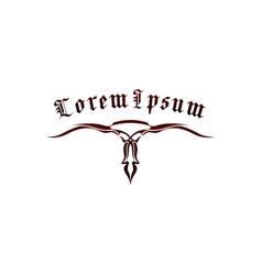 motorcycle tribal logo design concept template vector image