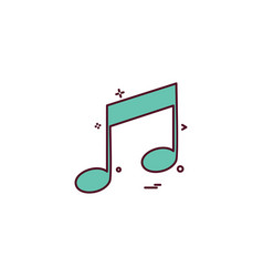 music player audio icon vector image