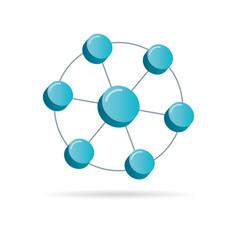 network 3d symbol vector image