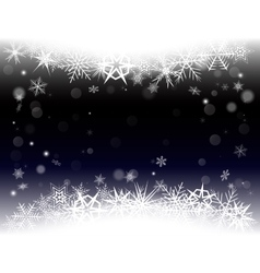 New Year Eve Christmas background with snowflakes vector image