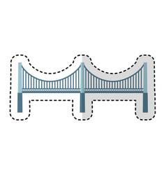 New york bridge isolated icon vector