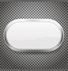 oval buttons with chrome frame isolated on vector image