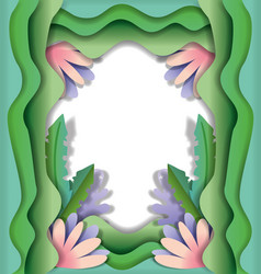 paper art frame vector image