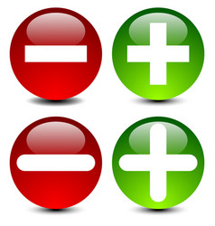 plus minus signs in 2 style vector image