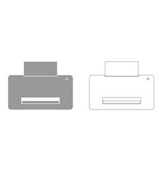 Printer set icon vector