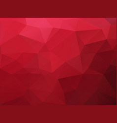 red polygonal texture background vector image