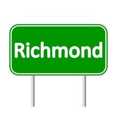 Richmond green road sign vector