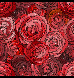 Rose seamless pattern floran background vector