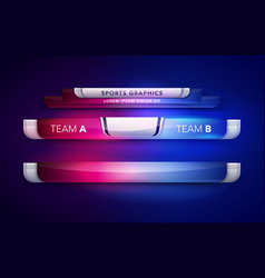 scoreboard team a vs team b broadcast graphic vector image