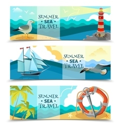 Sea Nautical Horizontal Banners vector