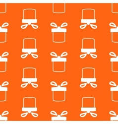Seamless pattern of present box vector image