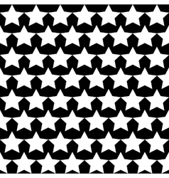 Seamless Star Monochrome Background vector image