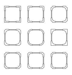 set of frames for the design of the game menu vector image