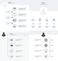 set of timeline design set black and white style vector image vector image