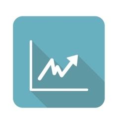 Square rising graphic icon vector