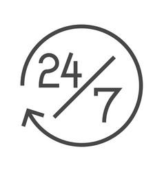 Steady services 24 7 vector