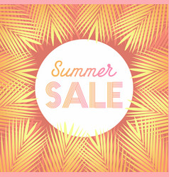 summer sale design layout for banner vector image