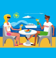 summer travel resort vector image
