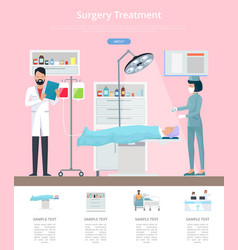 surgery treatment service vector image
