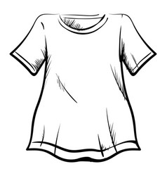 t-shirt drawing on white background vector image