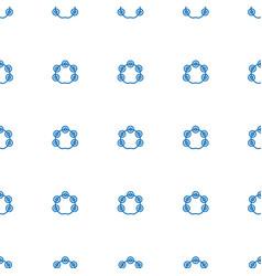 tambourine icon pattern seamless white background vector image