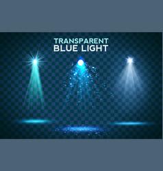 transparent blue light effects on a dark vector image