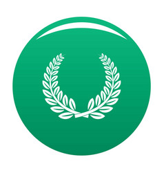 trophy icon green vector image