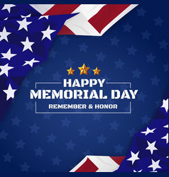 Usa memorial day background vector