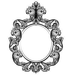 vintage baroque frame decor detailed rich vector image