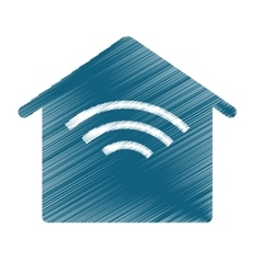wireless zone design vector image