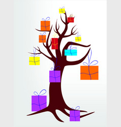 Wish tree vector