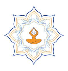 Zen yoga mandala vector