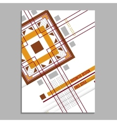 Abstract flyer brochure design template cover vector image