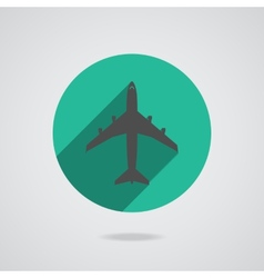 Airplanes icons vector image