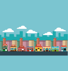 cityscape buildings skyline background vector image vector image